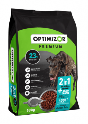 Optimizor Premium Adult Gravy Coated Dog Food